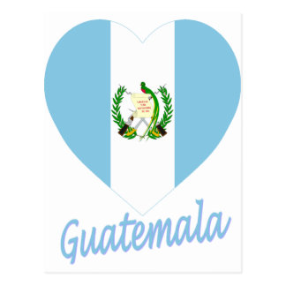 Guatemala Flag Heart Postcard