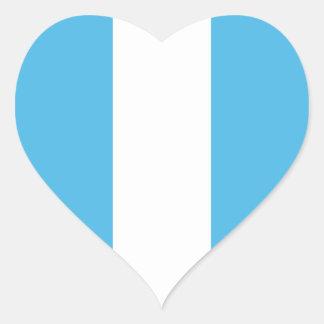 Guatemala Flag Heart Sticker