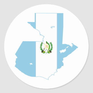 Guatemala Flag Map GT Classic Round Sticker