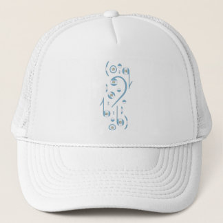 Guatemala Flag Music Notes Trucker Hat