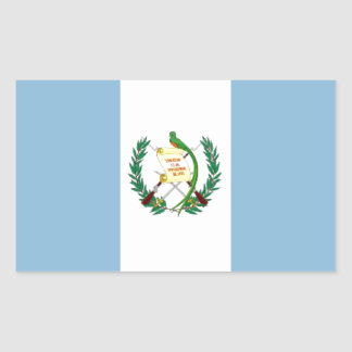 Guatemala Flag Rectangular Sticker