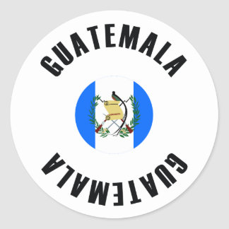 Guatemala Flag Simple Classic Round Sticker