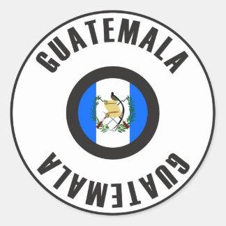 Guatemala Flag Simple Classic Round Sticker