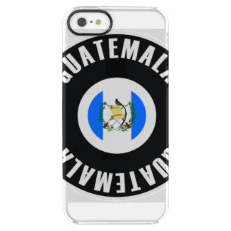 Guatemala Flag Simple Clear iPhone SE/5/5s Case