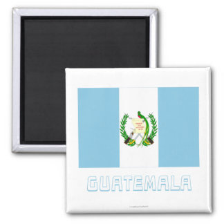 Guatemala Flag with Name Magnet
