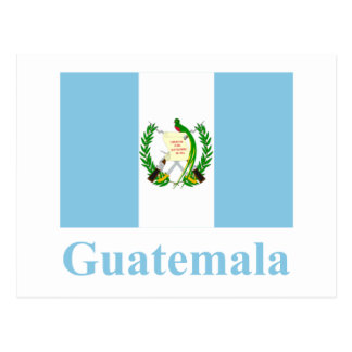 Guatemala Flag with Name Postcard