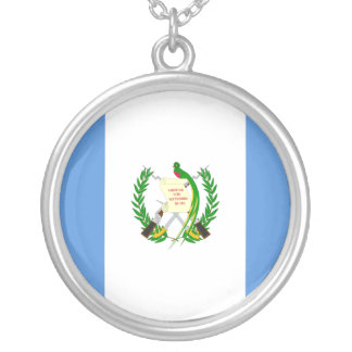 Guatemala, Grenada flag Silver Plated Necklace