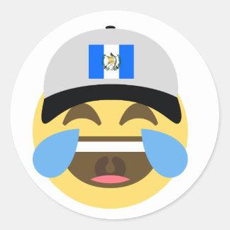 Guatemala Hat Laughing Emoji Classic Round Sticker