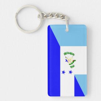 guatemala honduras half flag symbol key ring