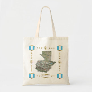 Guatemala Map + Flags Bag