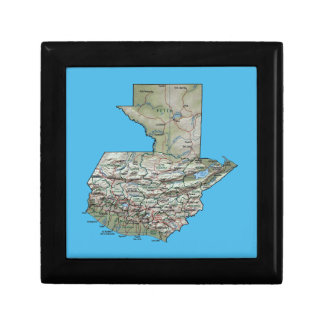Guatemala Map Gift Box