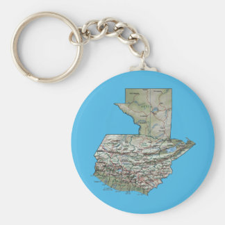 Guatemala Map Keychain