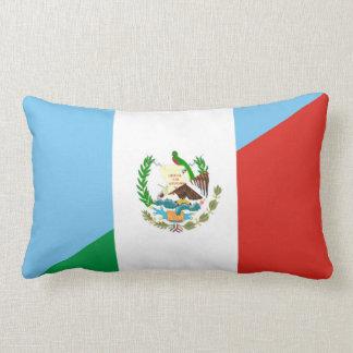 guatemala mexico half flag symbol lumbar cushion
