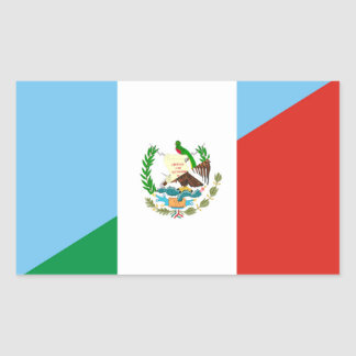 guatemala mexico half flag symbol rectangular sticker
