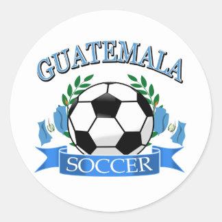 Guatemala soccer ball designs classic round sticker
