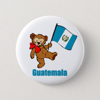 Guatemala Teddy Bear Button