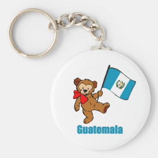 Guatemala Teddy Bear Keychain