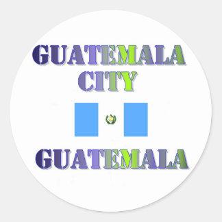 Guatemala town center classic round sticker