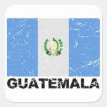 Guatemala Vintage Flag Square Sticker