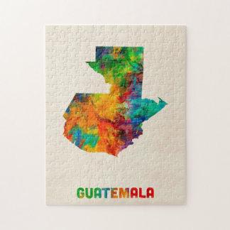 Guatemala Watercolor Map Jigsaw Puzzle