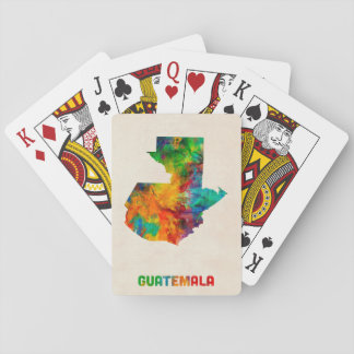 Guatemala Watercolor Map Playing Cards