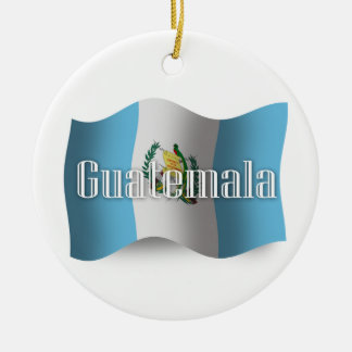 Guatemala Waving Flag Christmas Ornament