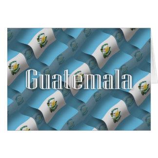 Guatemala Waving Flag Greeting Card
