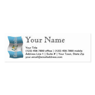 Guatemala Waving Flag Pack Of Skinny Business Cards