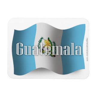 Guatemala Waving Flag Rectangular Photo Magnet