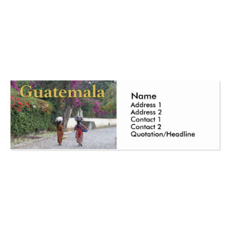 Guatemala Women, Woman, Flowers, Traditional Dress Pack Of Skinny Business Cards