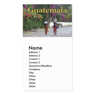 Guatemala Women, Woman, Flowers, Traditional Dress Pack Of Standard Business Cards