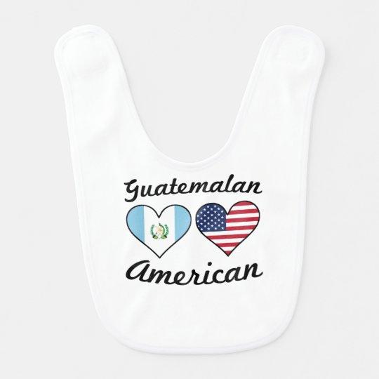 Guatemalan American Flag Hearts Baby Bib