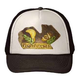 Guatemalan Country Shaped wood Trucker Hat