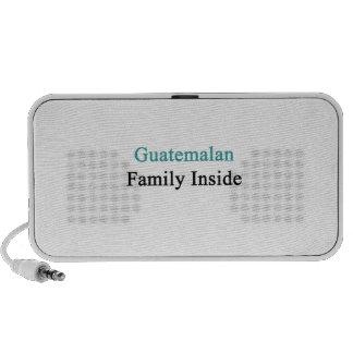 Guatemalan Family Inside Laptop Speaker