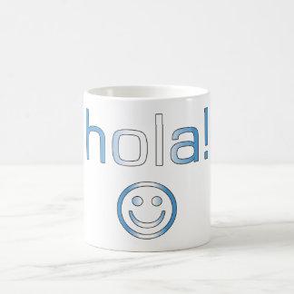 Guatemalan Gifts : Hello / Hola + Smiley Face Coffee Mug