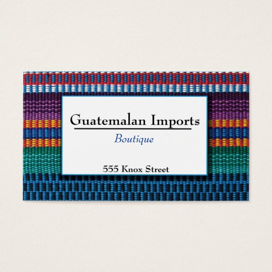 Guatemalan Imports Boutique Business Card