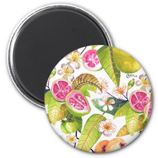 Guava Flowers Magnet