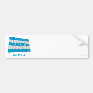 Guayas waving flag with Name Bumper Sticker