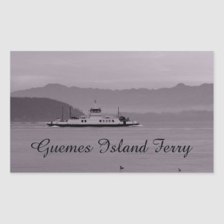 Guemes Island Ferry Rectangle Sticker