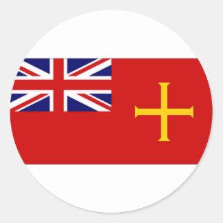 Guernsey Civil Ensign Flag Classic Round Sticker