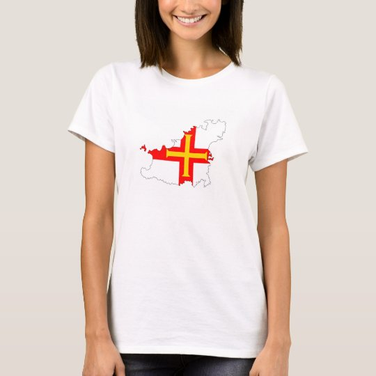 guernsey country flag map shape silhouette symbol T-Shirt
