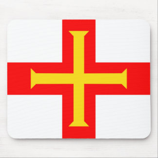 Guernsey country long flag nation symbol republic mouse mat