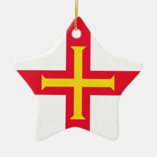 Guernsey Flag Christmas Ornament