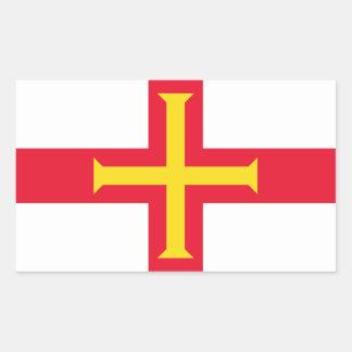 Guernsey Flag GG Rectangular Sticker