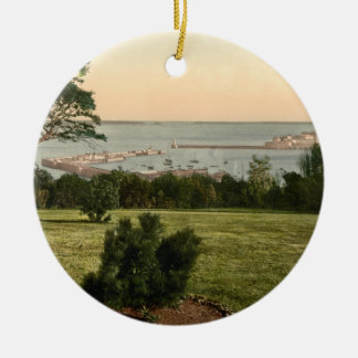 Guernsey Harbour, Channel Islands, England Christmas Ornament