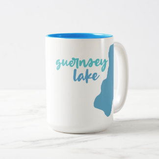 Guernsey Lake, Delton, Michigan Two-Tone Coffee Mug