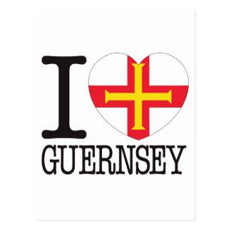Guernsey Love v2 Post Card