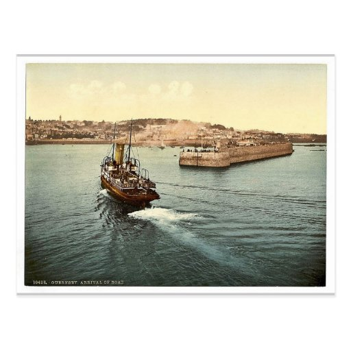 Guernsey, St. Peter's Port, arrival of boats, Chan Post Cards