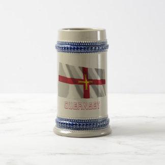 Guernsey Waving Flag with Name Mug