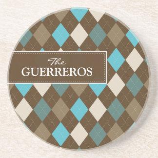 Guerreros Aqua/Chocolate Coaster